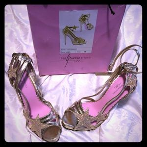 Ellie Shoes Starlight  Gold Platform